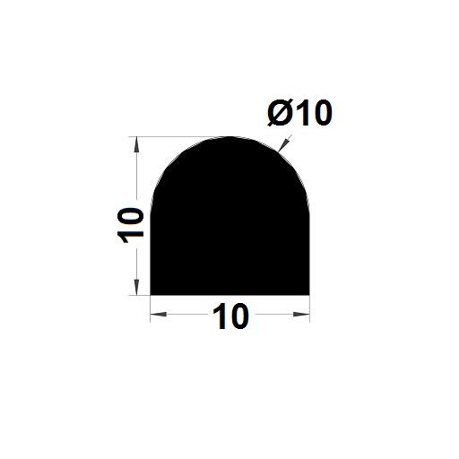Joint de cuve - 10x10 mm