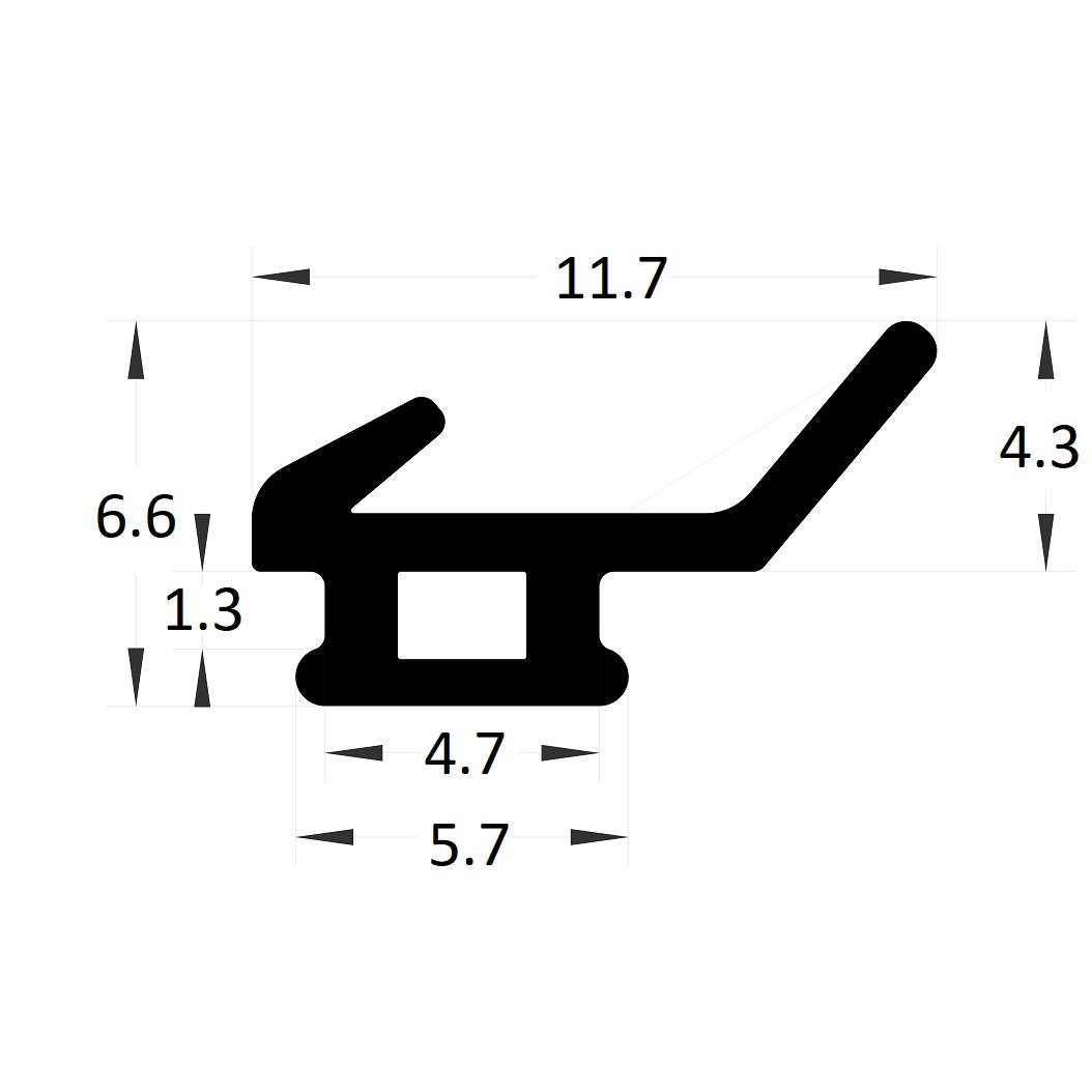 Carpentry gasket - 6,60x5,70 mm