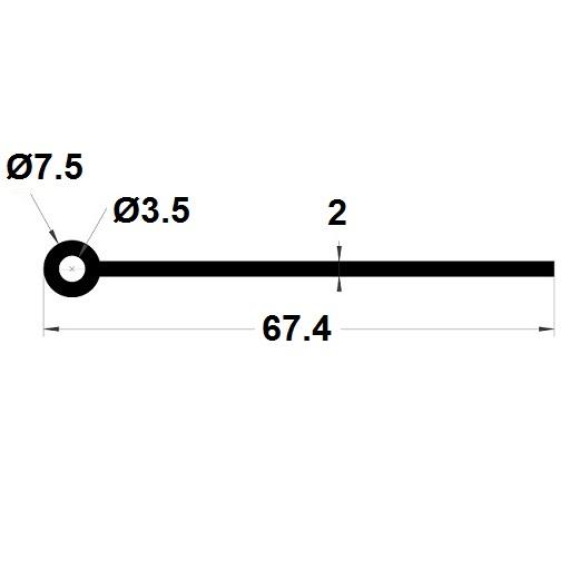 Note de musique - 7,50x67,40 mm