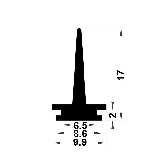Carpentry gasket - 17x9,90 mm