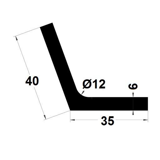 Profilé en L - 40x35 mm