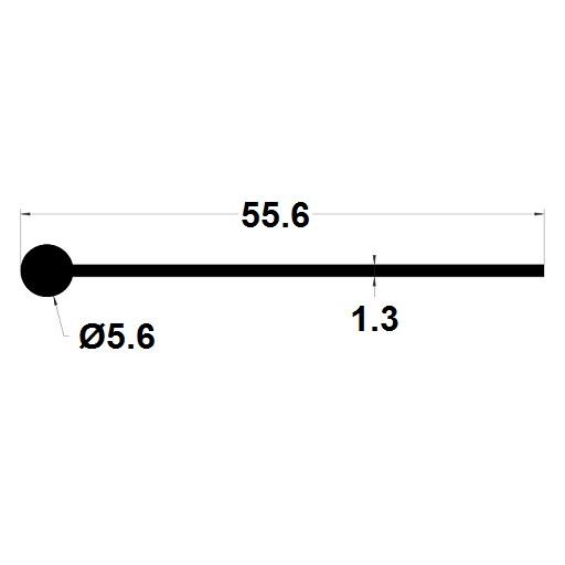 Note de musique - 5,60x55,60 mm