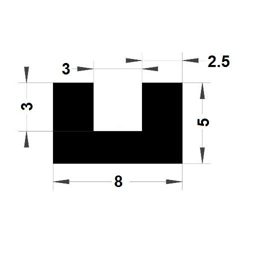 U Profile - 5x8 mm