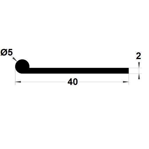 Note de musique - 5x40 mm