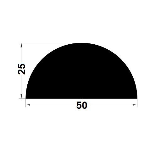 Profilé antichoc - 25x50 mm