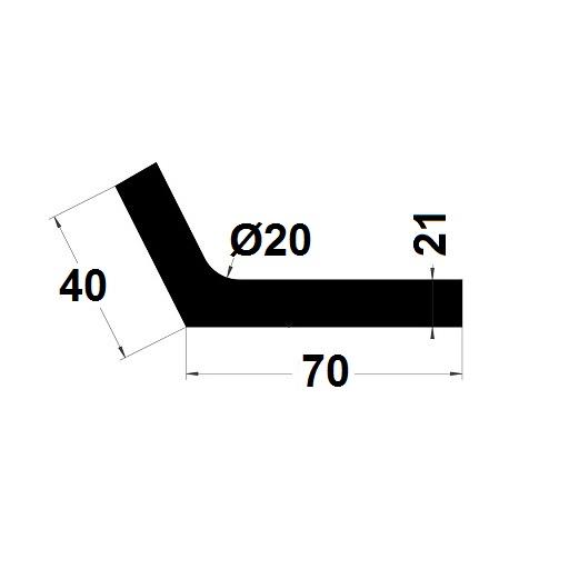 Profilé en L - 40x70 mm