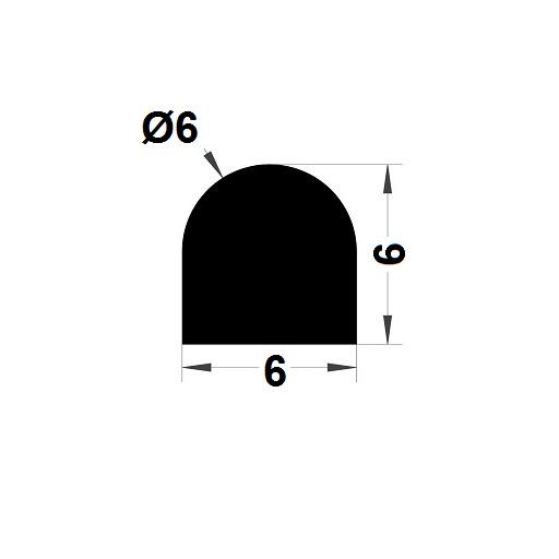 Joint de cuve - 6x6 mm