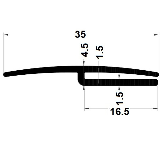 H profile - 4,50x35 mm