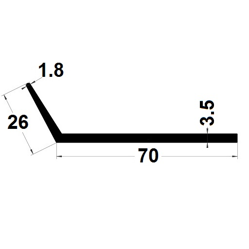 Profilé en L - 26x70 mm