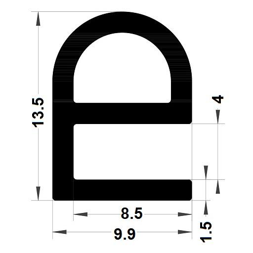 Profilé en E - 13,50x9,90 mm