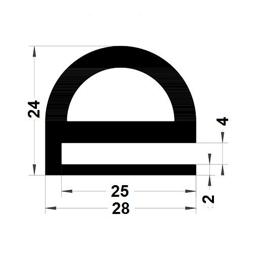 Profilé en E - 24x28 mm