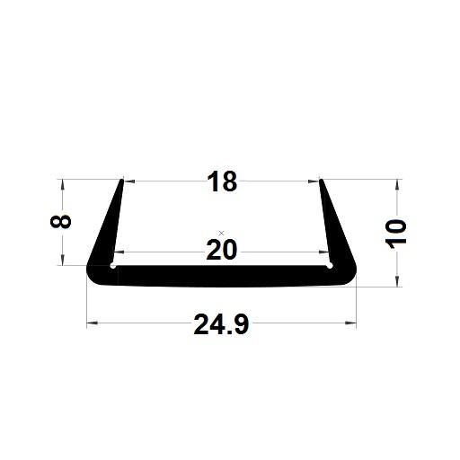 U Profile - 10x24,90 mm