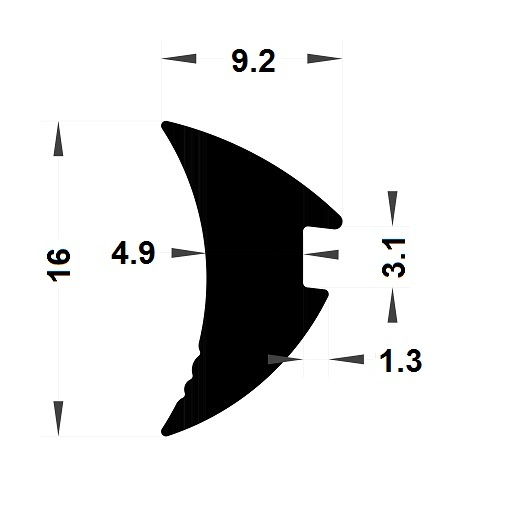 Wedge gasket - 9,20x16 mm