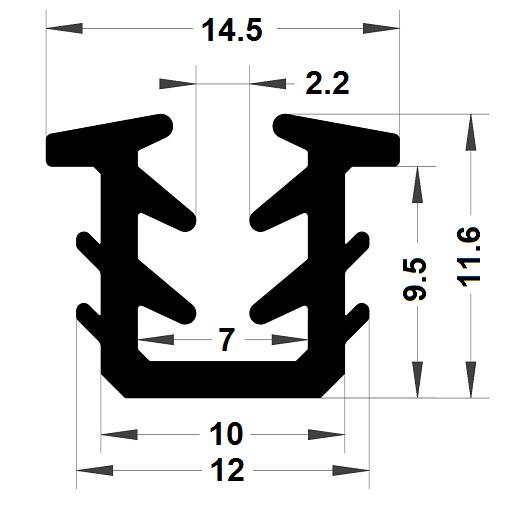 Glazing seal - 11,60x14,50 mm