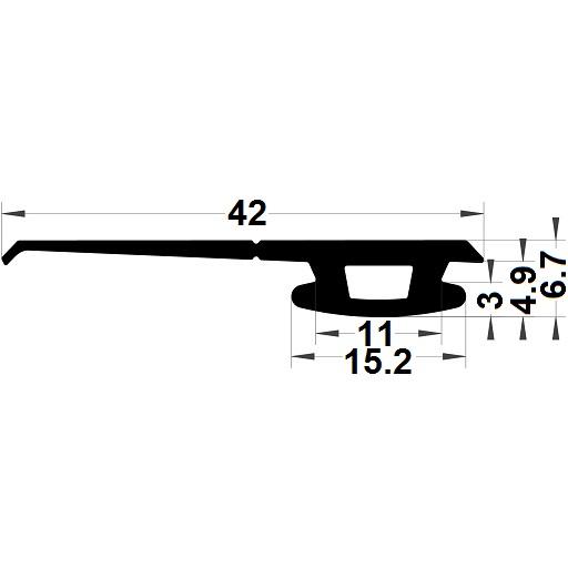 Carpentry gasket - 6,70x15,20 mm