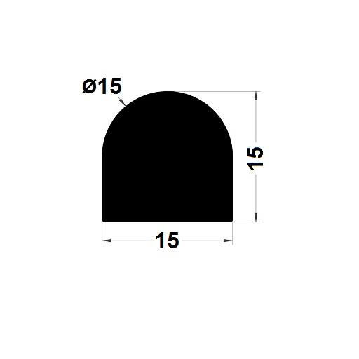 Joint de cuve - 15x15 mm