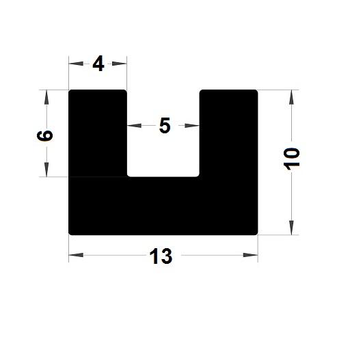 U Profile - 10x13 mm