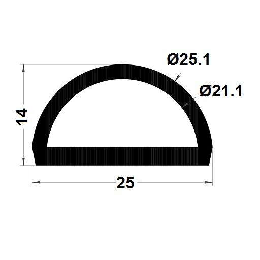 Profilé antichoc - 14x25 mm
