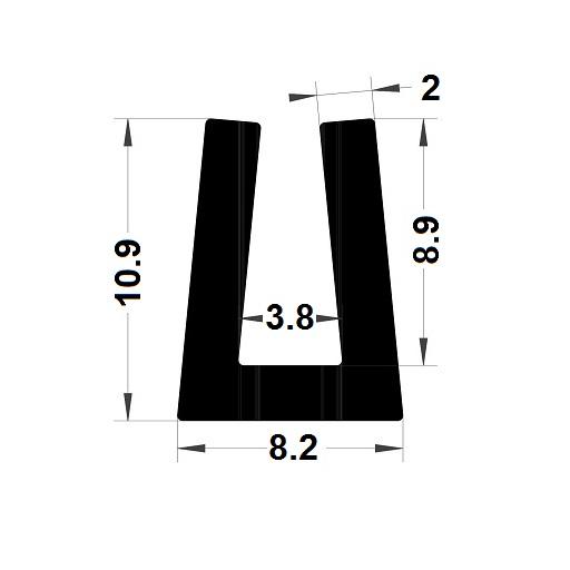 Profilé en U - 10,90x8,20 mm