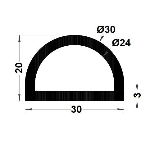 Profilé antichoc - 20x30 mm
