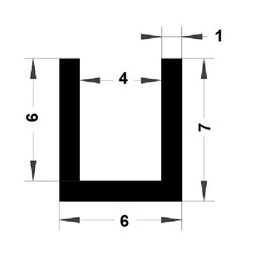 Profilé en U - 7x6 mm