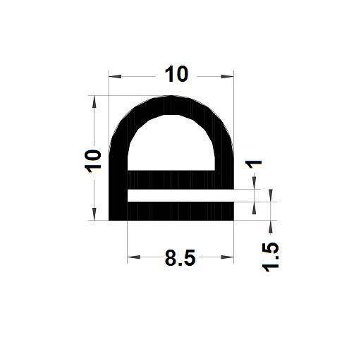E Profile - 10x10mm