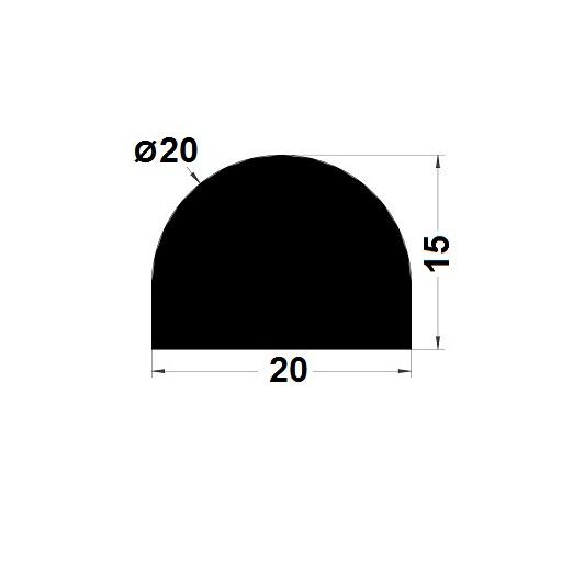 Joint de cuve - 15x20 mm