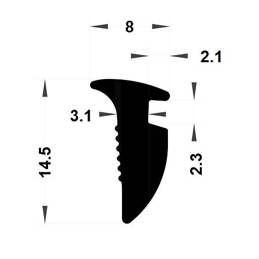 Wedge gasket - 8x14,50 mm
