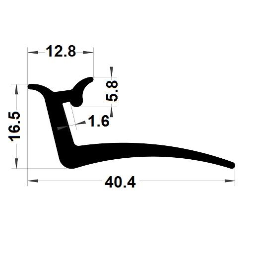 Joint véranda - 40,40x16,50 mm