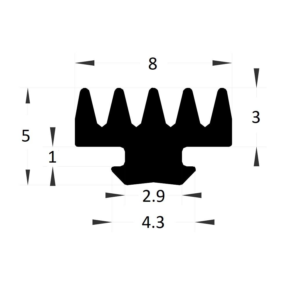 Carpentry gasket - 5x4,30 mm