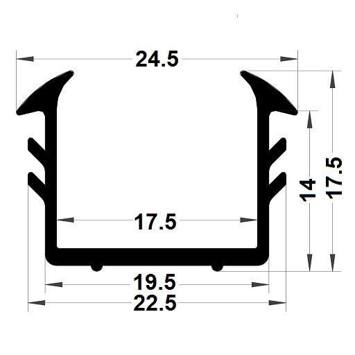 Glazing seal - 17,50x24,50 mm