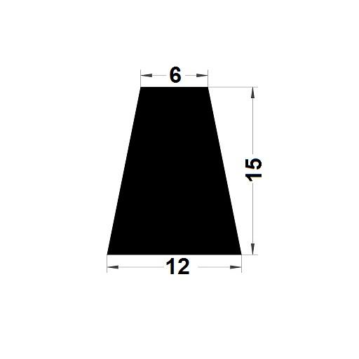 Trapèze - 15x12 mm