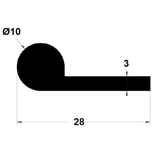 Note de musique - 10x28 mm