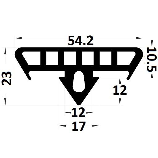 Profilé couvre-tôle - 23x54,20 mm