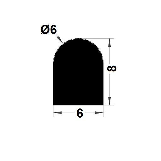 Joint de cuve - 8x6 mm
