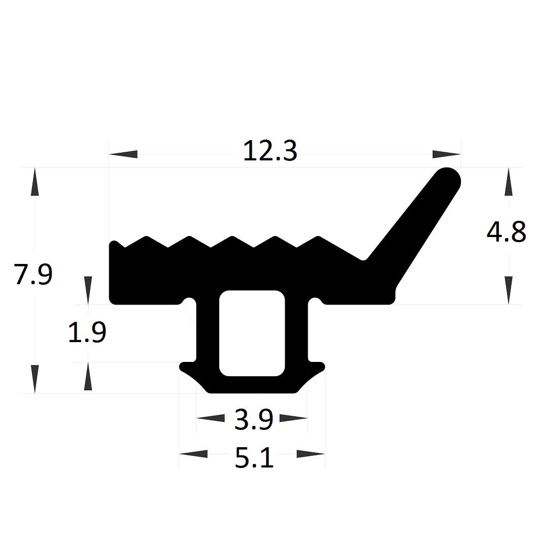 Carpentry gasket - 7,90x5,10 mm