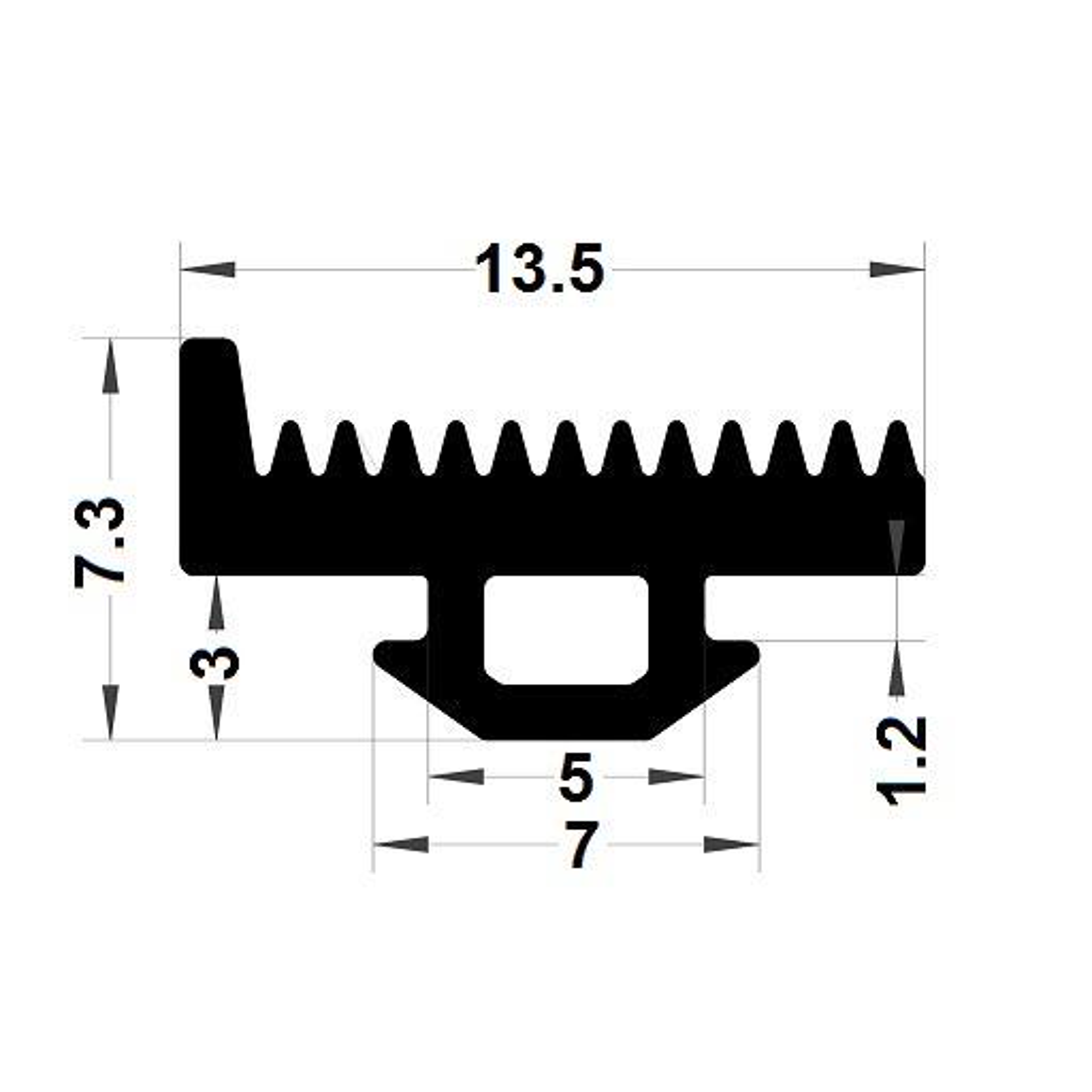 Carpentry gasket - 7,30x7 mm