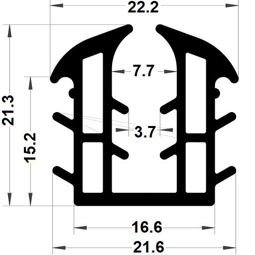 Glazing seal - 21,30x22,20 mm