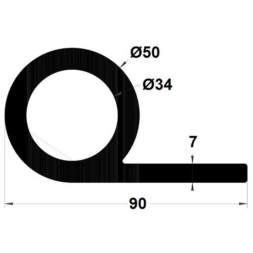 P Profile - 50x90 mm