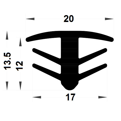 Expansion gasket - 13,50x20 mm