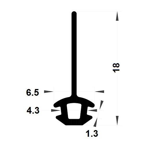 Carpentry gasket - 18x6,50 mm
