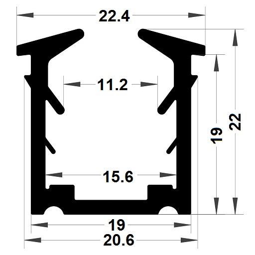 Glazing seal - 22x22,40 mm