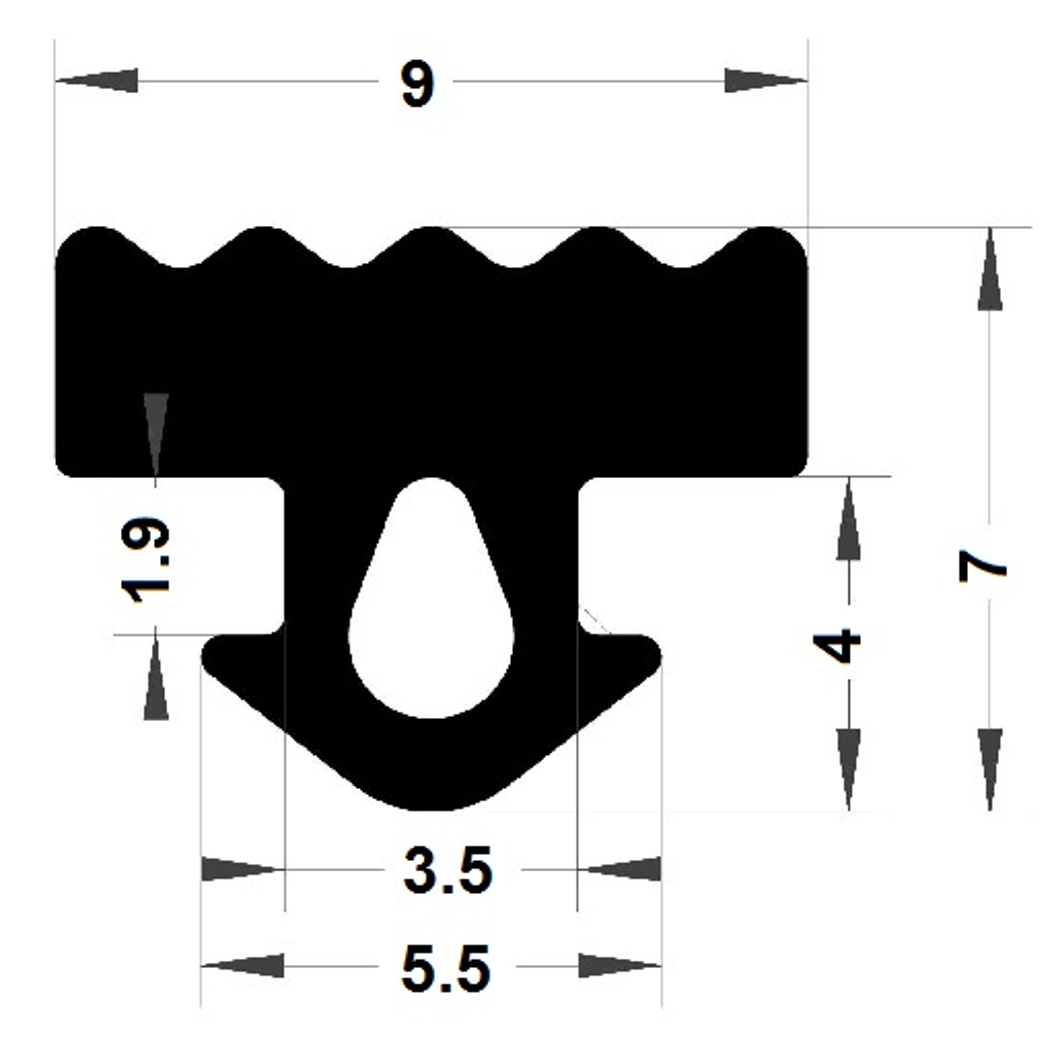 Carpentry gasket - 7x5,50 mm