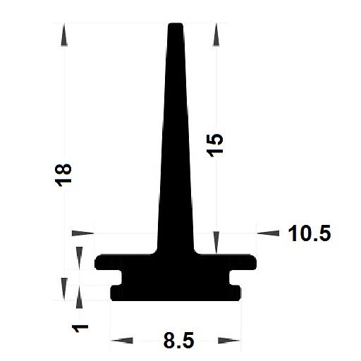 Carpentry gasket - 18x10,50 mm