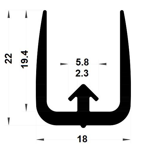 Veranda & conservatory gasket - 22x18 mm