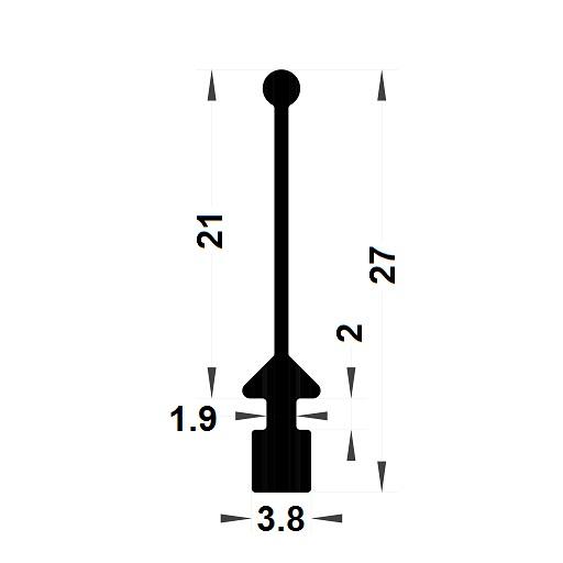 Carpentry gasket - 27x3,80 mm