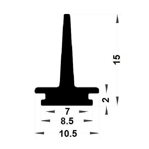 Carpentry gasket - 15x10,50 mm