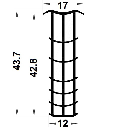 Joint sapin - 43,70x17 mm