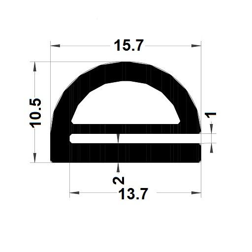 Profilé en E - 10,50x15,70 mm
