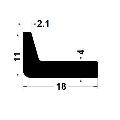 Profilé en L - 11x18 mm